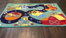 NEW FARM COUNTING EDUCATIONAL SCHOOL HOME MAT RUG 80X120CM MULTICOLOUR NON SLIP